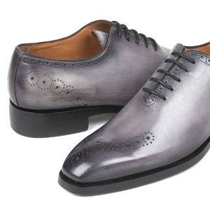 PAUL PARKMAN GOODYEAR WELTED PUNCHED OXFORDS GREY